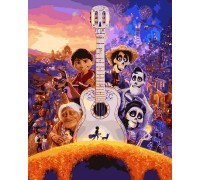 Картина по номерам Тайна Коко Музыка Мигеля Риверы