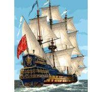 Картина по номерам Парусник королевской флотилии (Без коробки)