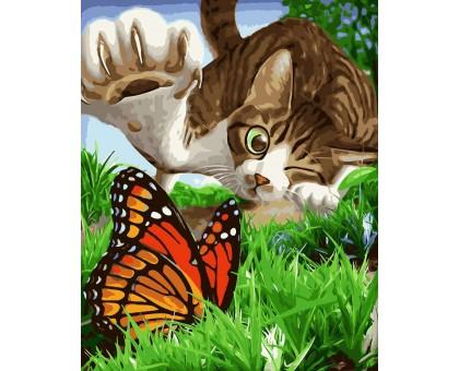 Картина по номерам Охотник на бабочек