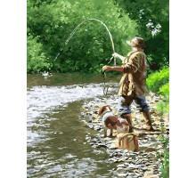 Картина по номерам Летняя рыбалка