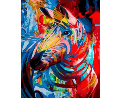 Картина по номерам Цветная зебра