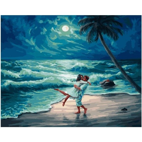 Картина по номерам Свидание на берегу океана (Без коробки)