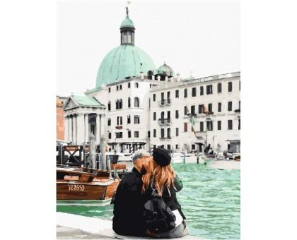 Картина по номерам Венеция в мятных тонах