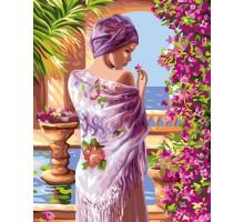 Картина по номерам Терасса в цветах