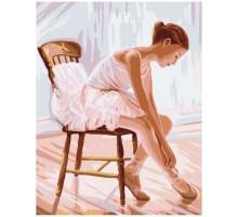Картина по номерам Балерина в нежно розовом