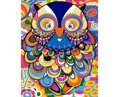 Картина по номерам Абстрактная сова