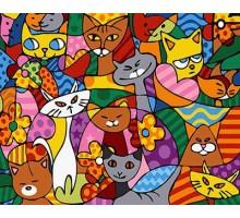 Картина по номерам Кошачье многоцветие