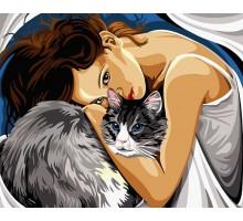 Картина по номерам Люди как кошки
