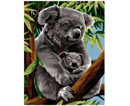 Картина по номерам Мама коала