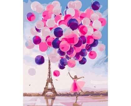 Картина по номерам Парижские шары