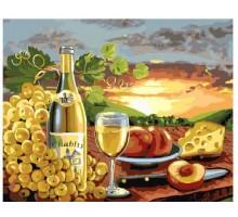 Картина по номерам Белое вино с фруктами