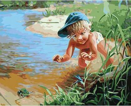 Картина по номерам Охота на лягушек