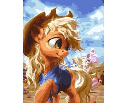 Картина по номерам Эпплджек Мой маленький пони