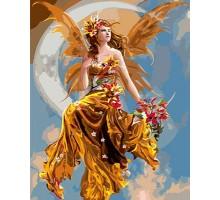 Картина по номерам Золотая фея