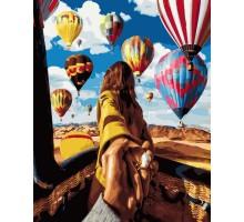 Картина по номерам Следуй за мной Воздушные шары