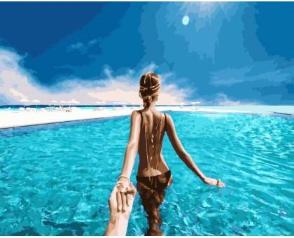 Картина по номерам Следуй за мной Карибские острова