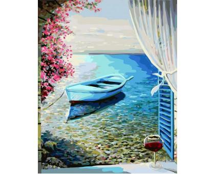 Картина по номерам Лодка у окна