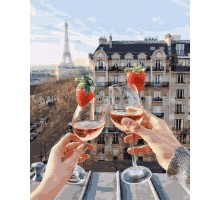 Картина по номерам Шампанское и клубника
