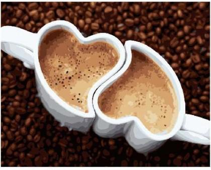 Картина по номерам Кофе для двоих