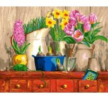 Картина по номерам Натюрморт из 3-х цветков