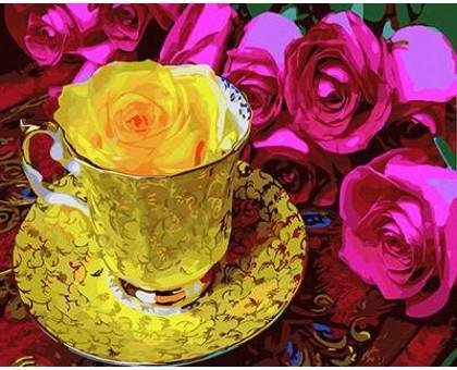 Картина по номерам Чайная роза