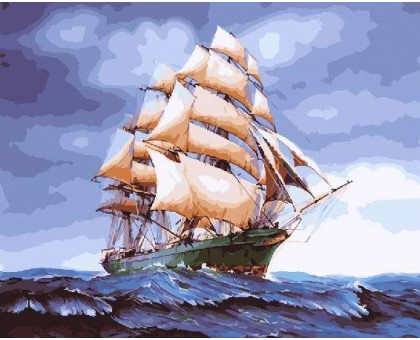 Картина по номерам Парусник на волнах