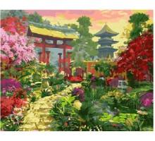 Картина по номерам Ворота в японский сад