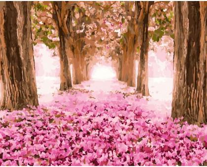 Картина по номерам Розовый лес
