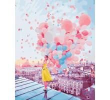 Картина по номерам Рассвет над крышами Парижа
