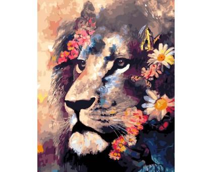 Картина по номерам Лев в цветах
