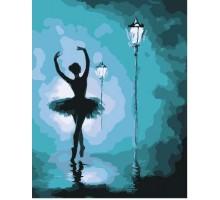 Картина по номерам Балерина в свете фонарей