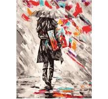 Картина по номерам Художница под зонтом