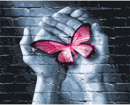Картина по номерам Бабочка в руках