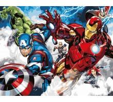 Картина по номерам Мстители Команда в сборе
