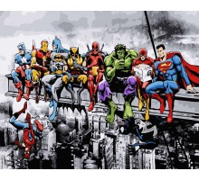 Раскраска по номерам Супергерои