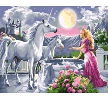 Картина по номерам Принцесса и единороги