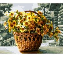 Картина по номерам Желтые хризантемы