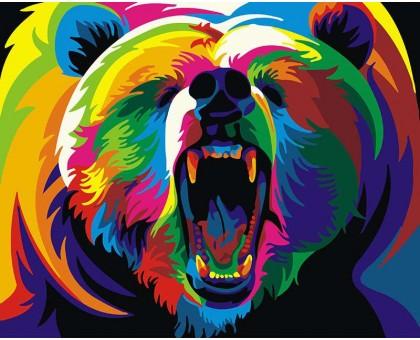 Картина по номерам Радужный медведь