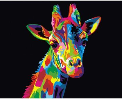 Картина по номерам Радужный жираф