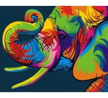 Картина по номерам Радужный слон