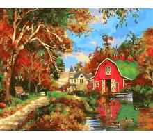 Картина по номерам Дом у озера