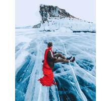 Картина по номерам Алый шарф Озеро Байкал