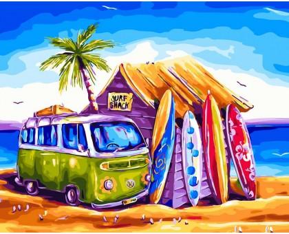 Картина по номерам Пляжный отдых