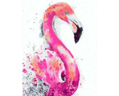 Картина по номерам Радужный фламинго