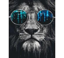 Картина по номерам Космический лев