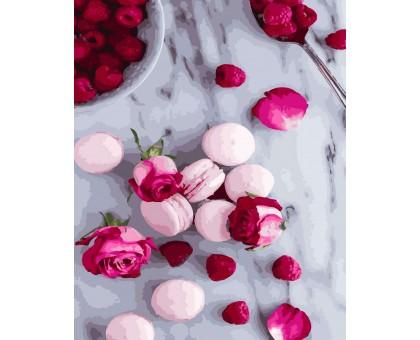 Картина по номерам Макаруны и розы