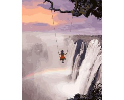 Картина по номерам Над водопадом