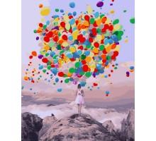 Картина по номерам Букет воздушных шаров