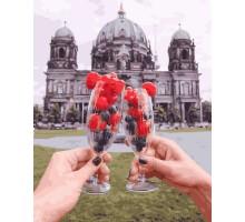 Картина по номерам Ягодный бокал на фоне Берлинского Собора