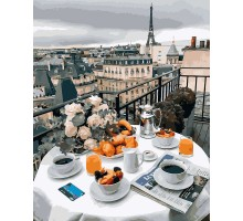 Картина по номерам Бизнес завтрак в Париже